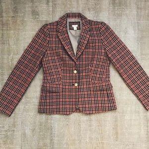 Womens Size 4 J.Crew plaid Fall wool Blazer Jacket